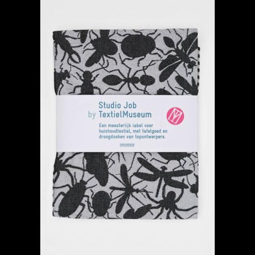 Textielmuseum Studio Job tea towel Insects black