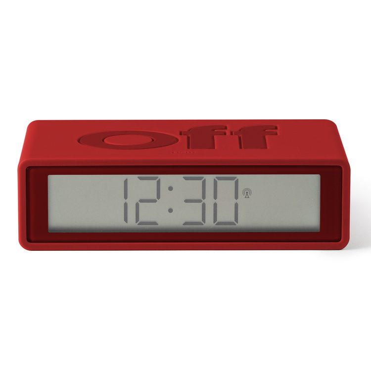 Lexon Lexon alarm clock Flip+ red