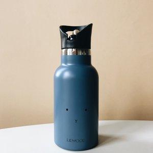 Liewood LW water bottle rabbit blue