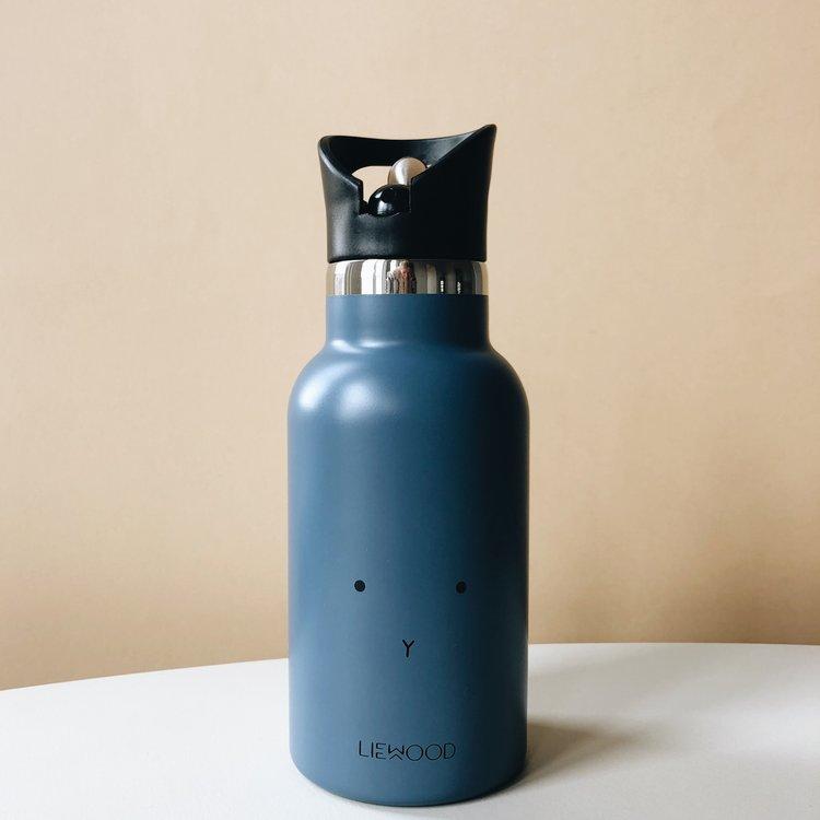 Liewood LW water fles konijn  blauw