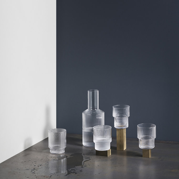 ferm LIVING ferm LIVING carafe Ripple clear