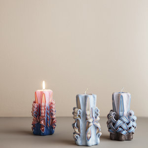 ferm LIVING ferm LIVING hand carved candle pink