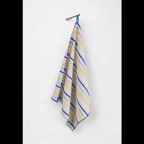 Textielmuseum Theedoek Bauhaus blauw geel