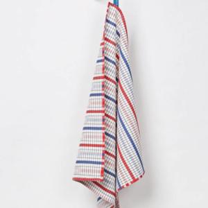 Textielmuseum Theedoek Bauhaus blauw rood