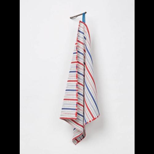 Textielmuseum Tea towel bauhaus blue red