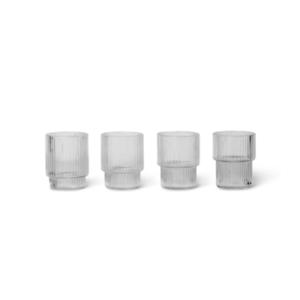 ferm LIVING Ripple set 4 glazen klein helder