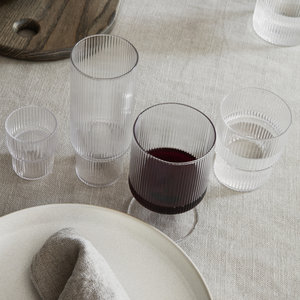 ferm LIVING ferm LIVING Ripple set 4 glazen klein helder