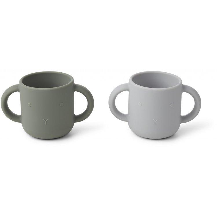 Liewood Liewood set 2 cups Rabbit faune green