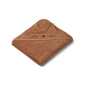 Liewood Hooded Towel Augusta cat terracotta