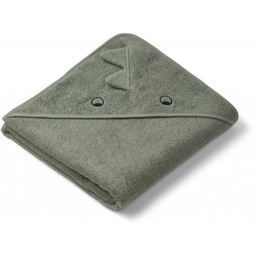 Liewood Hooded Towel Augusta dino green