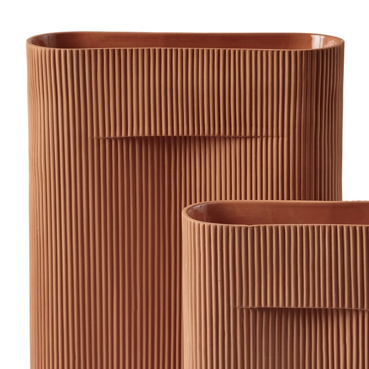 Muuto Muuto Ridge Vase large terracotta