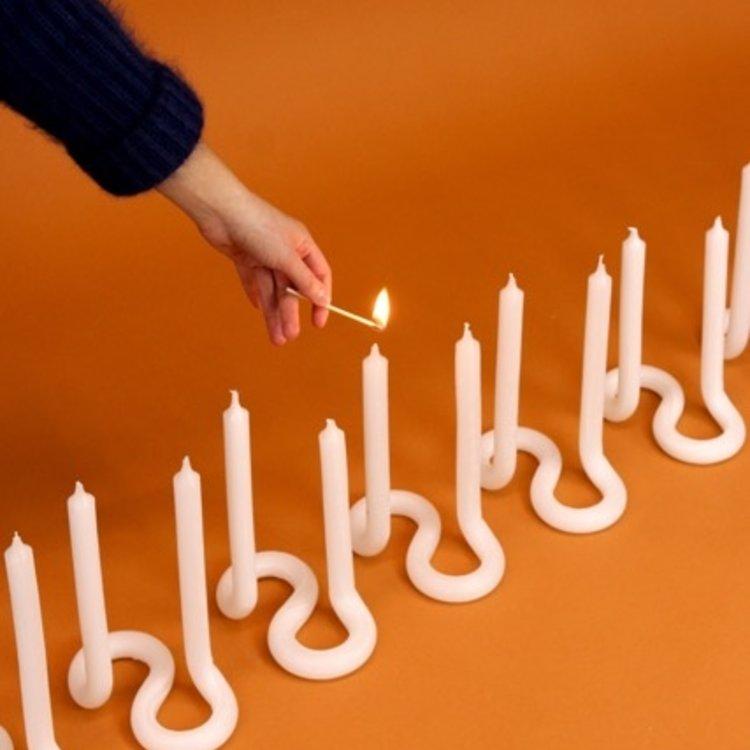 Lex Pott Lex Pott Twist candle white