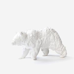 Moustache Beeld beer Orso groot wit