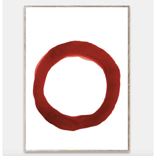 Paper Collective Print Enso red IV 30x40