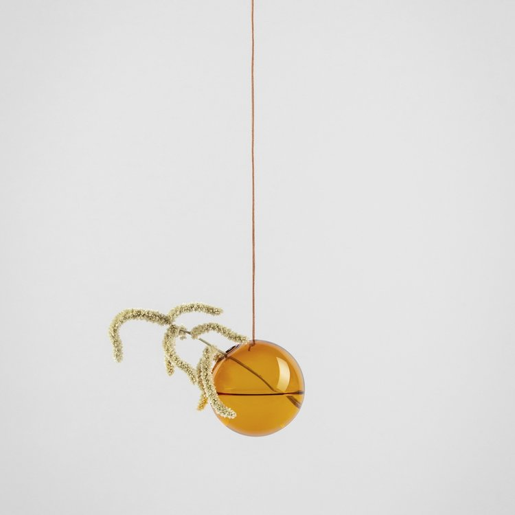 About Form And Function Flower Bubble hanging small amber