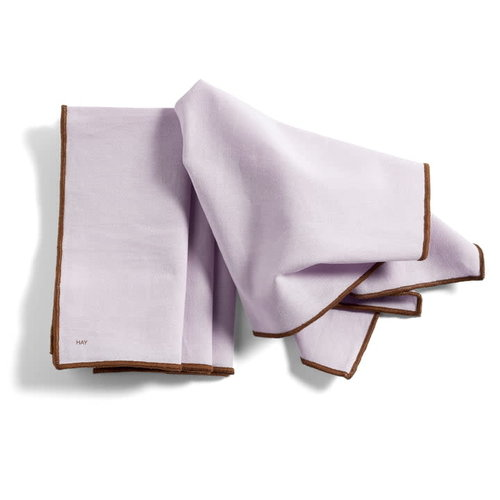 HAY Contour napkin set 4 lavender