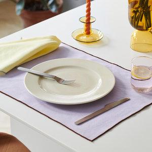 HAY Contour napkin set of 4 yellow