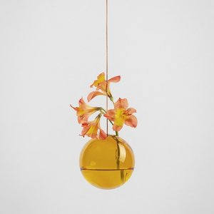 About Form And Function Flower Bubble hanging amber
