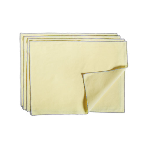HAY Set 4 placemat Contour geel