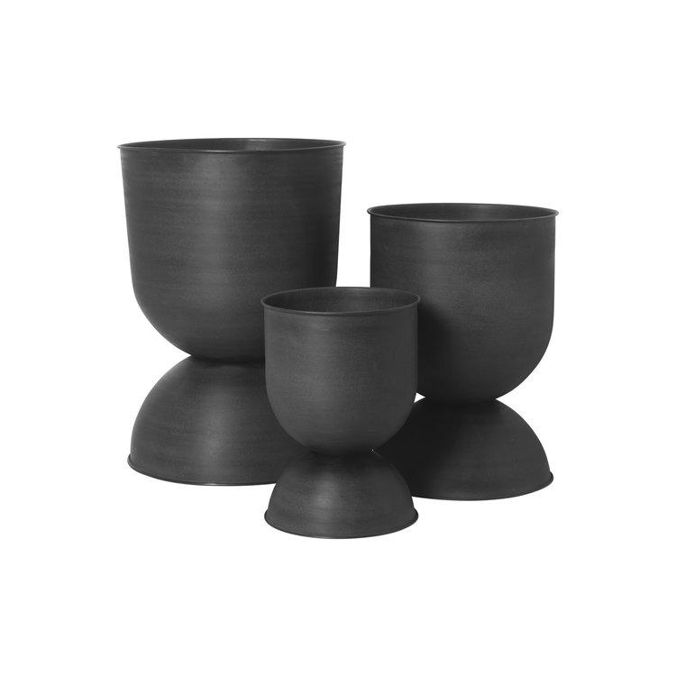 ferm LIVING ferm LIVING hourglass plant pot XS black