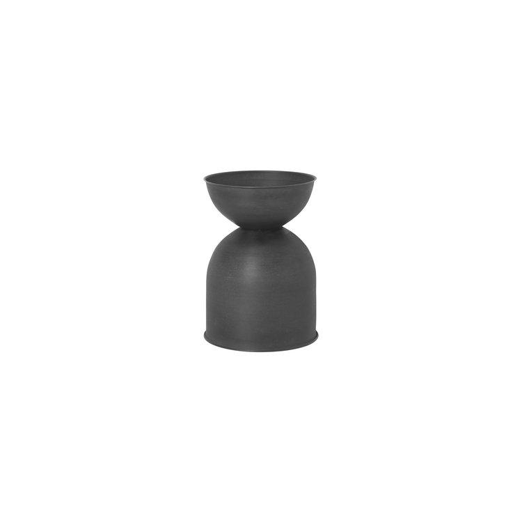 ferm LIVING Hourglass pot XS black