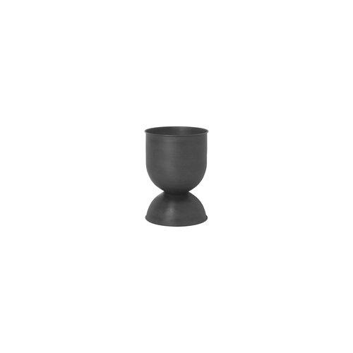 ferm LIVING Hourglass plant pot XS black
