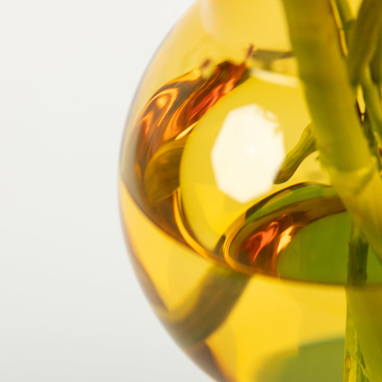 Studio About Bubble Tube vaas groot geel