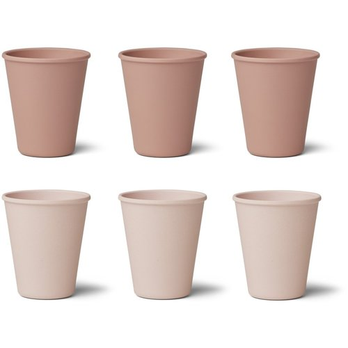 Liewood Liewood 6-pack bamboo mug pink