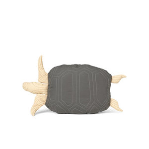ferm LIVING Turtle Quilted Cushion Deep Forest