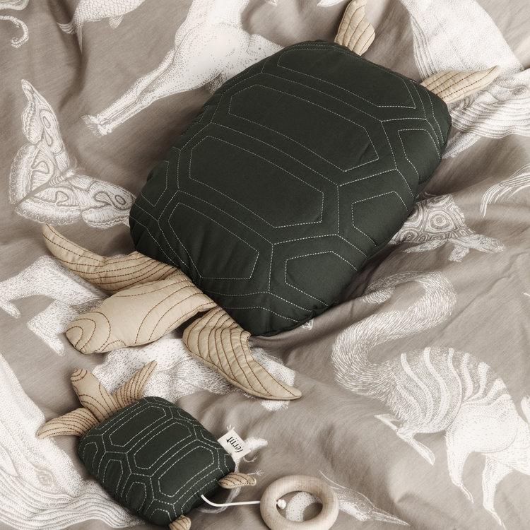 ferm LIVING Kussen schildpad groen
