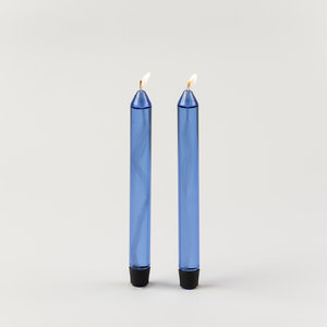 Studio About Studio About set of 2 glass candle blue
