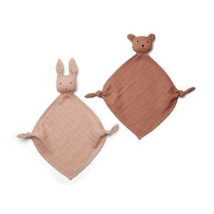 Liewood Yoko mini knuffel set van 2 roze