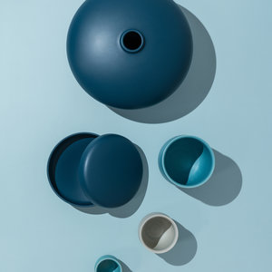 raawii Alev vase 02 large mallard blue