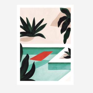 Sergeant Paper Print Coconut Groove 30x42cm