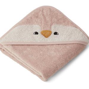 Liewood Augusta badcape Penguin roze