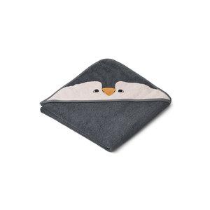 Liewood Albert baby badcape Pinguin grijs