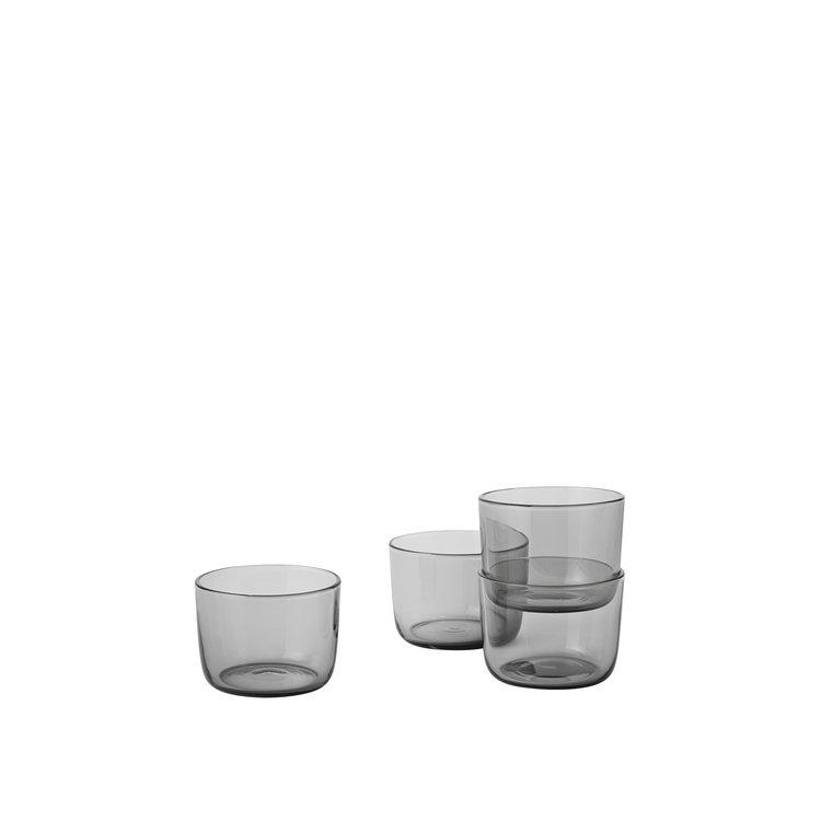 Muuto Muuto Corky set van 4 glazen grijs