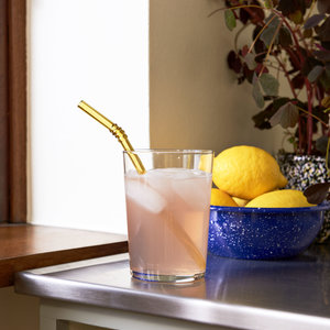 HAY HAY set of 6 glass Swirl straws