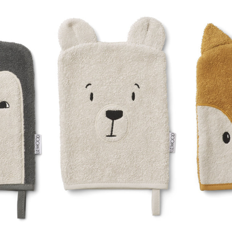 Liewood Liewood Sylvester washcloth 3 pack Arctic