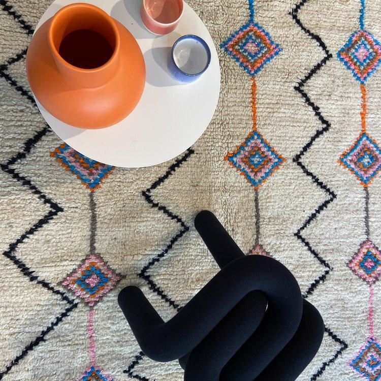 Carpet Diamond Blue Orange