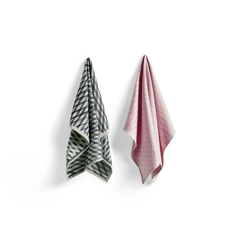 HAY Set of 2 tea towels S&B no4 Marker Diamond
