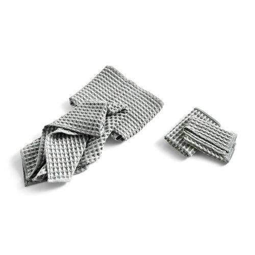 HAY Twist Cloth & Towel set of 4 groen