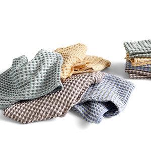 HAY HAY Twist Cloth & Towel set of 4 blue