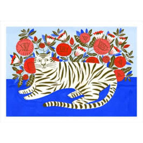 Sergeant Paper Print Tiger in Garden 50x70