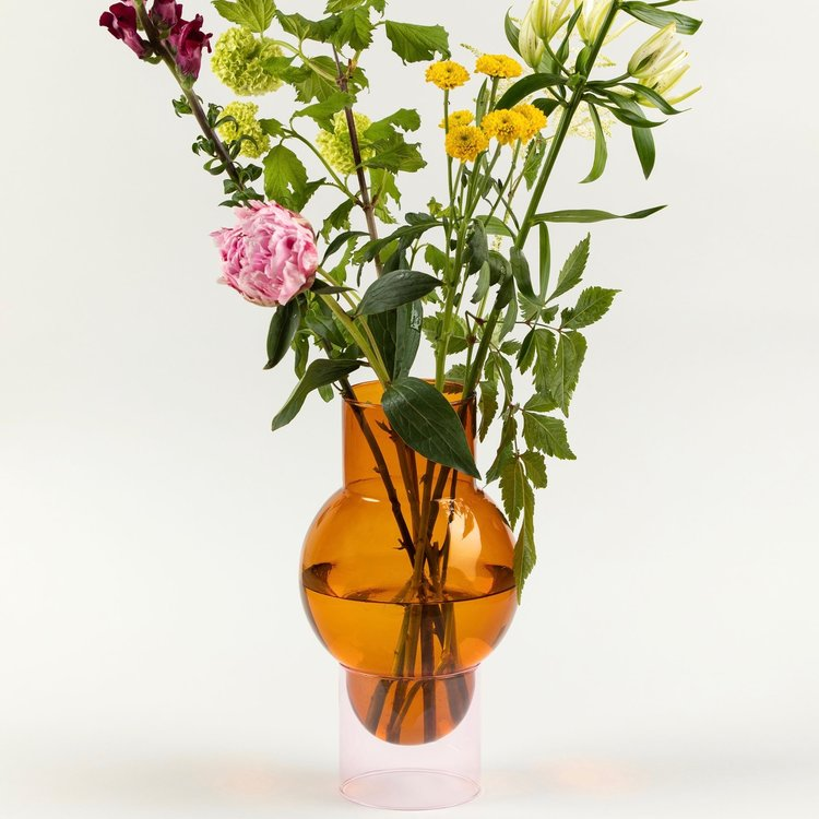 Studio About Bubble Tube vase big amber