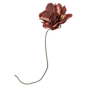 Studio About Papieren bloem Madeliefje bordeaux