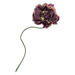 Studio About Papieren bloem Pioen aubergine