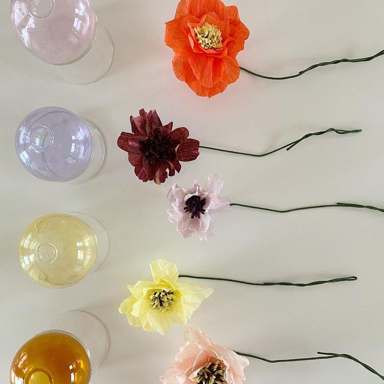 Studio About Paper Flower Peony aubergine