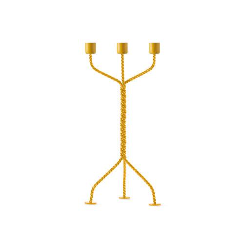 Werkwaardig Kandelaar Twisted geel