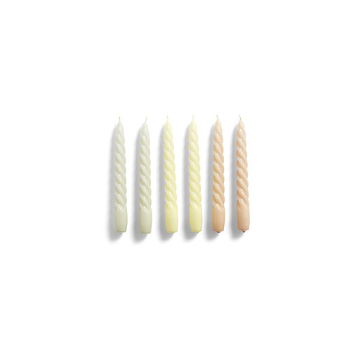 HAY Set of 6 candles Twist grey citrus peach
